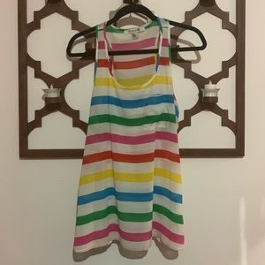 Forever 21 rainbow 🌈 striped light weight tank